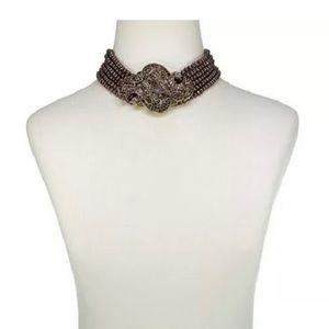 Heidi Daus 6 strand beaded choker necklace